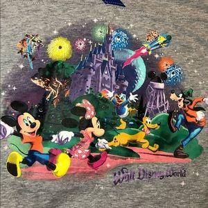 Disney Parks Multi Character Baseball Style Shirt